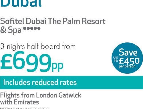 Dubai 3 Nights Half Board From £699pp